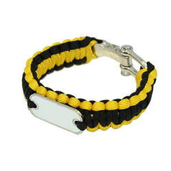 Paracord bracelet yellow / black Sublimation Thermal Transfer