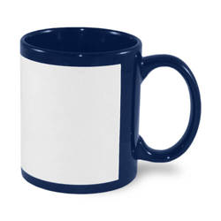 Patch mug 330 ml navy blue Sublimation Thermal Transfer