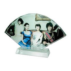 Photo crystal fan with stand model SJ11