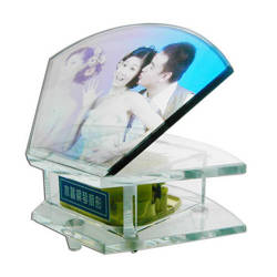 "Photo crystal musical box ""Hand Fan"" model SJ19"