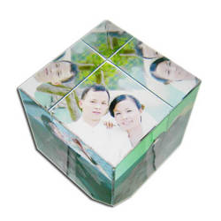 Photo crystal small cube model SJ48