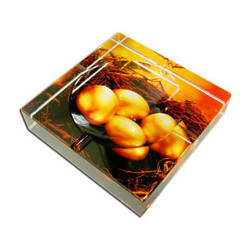 Photo crystal square ashtray model SJ13