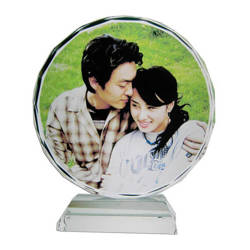 Photo crystal sunflower 12 cm model SJ03