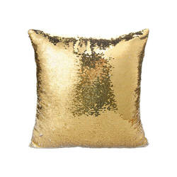 Pillowcase 40 x 40 cm  with sequins for sublimation - golden