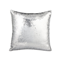 Pillowcase 40 x 40 cm  with sequins for sublimation - silver
