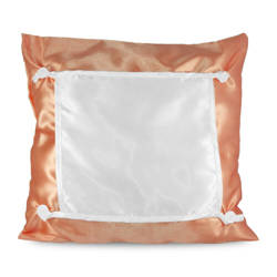 Pillowcase Eco 40 x 40 cm salmon Sublimation Thermal Transfer