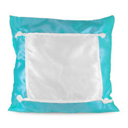 Pillowcase Eco 40 x 40 cm turquoise Sublimation Thermal Transfer