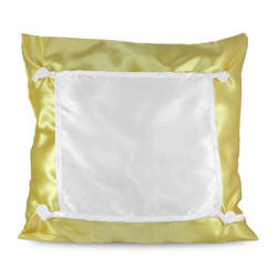 Pillowcase Eco 40 x 40 cm yellow Sublimation Thermal Transfer