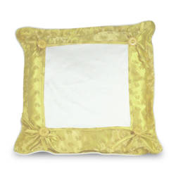 Pillowcase Super Quality 40 x 40 cm yellow Sublimation Thermal Transfer