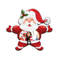 Plastic Santa Claus pendant Sublimation Thermal Transfer