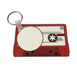 Plastic pendant - cassette tape - Sublimation Transfer