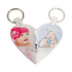 Plastic pendant - heart - left half - Sublimation Transfer