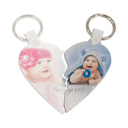 Plastic pendant - heart - right half - Sublimation Transfer