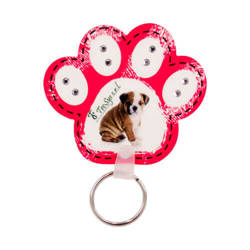 Plastic pendant - paw - Sublimation Transfer
