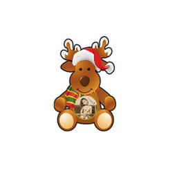Plastic reindeer pendant Sublimation Thermal Transfer