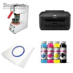 Plate printing kit Epson WF-7110DTW + SP01 Sublimation Thermal Transfer