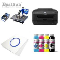 Printing Kit Epson WF-7210DTW + COMBO1 Sublimation Thermal Transfer