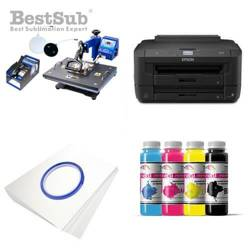 Printing Kit Epson WF-7210DTW + COMBO3 Sublimation Thermal Transfer