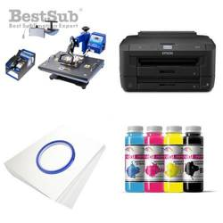 Printing Kit Epson WF-7210DTW + COMBO4 Sublimation Thermal Transfer