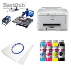 Printing Kit  Epson WF3010DW + COMBO4 Sublimation Thermal Transfer