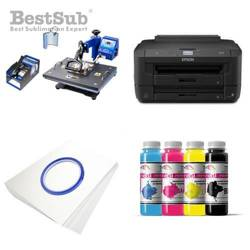 Printing Kit Epson WF7110DTW + COMBO2 Sublimation Thermal Transfer