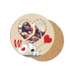 Round MDF coaster Ø 10 cm Sublimation Thermal Transfer