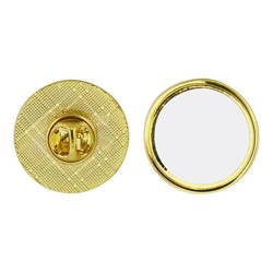 Round gold pins Sublimation Thermal Transfer