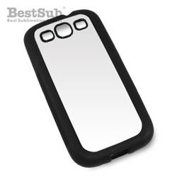 Samsung Galaxy S3 i9300 case rubber black Sublimation Thermal Transfer