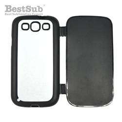 Samsung Galaxy S3 i9300 case rubber openable black Sublimation Thermal Transfer