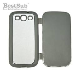 Samsung Galaxy S3 i9300 case rubber openable grey Sublimation Thermal Transfer