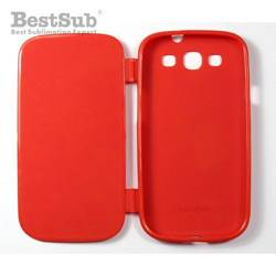 Samsung Galaxy S3 i9300 case rubber openable red Sublimation Thermal Transfer