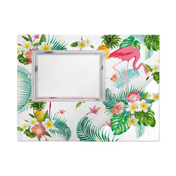 Satin table cloth mat for sublimation printing - Flamingo