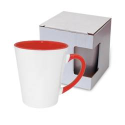 Small FUNNY Latte mug red with box KAR3 Sublimation Thermal Transfer