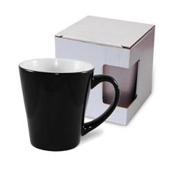 Small Latte mug Absolute Magic Black with box KAR3 Sublimation Thermal Transfer