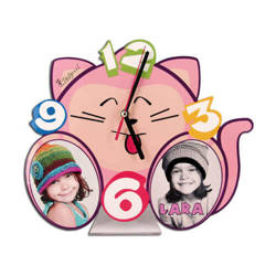 Standing MDF clock for sublimation - Cat