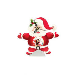 Standing MDF clock for sublimation - Santa Claus