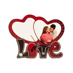 Standing MDF clock for sublimation - Two hearts