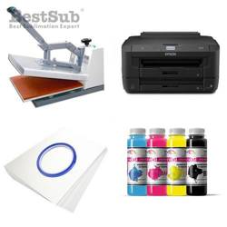 T-shirt Printing Kit Epson WF-7210DTW + SB3A Sublimation Thermal Transfer