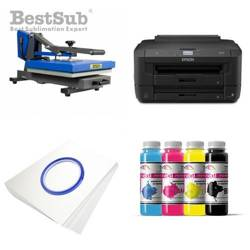 T-shirt printing kit Epson WF-7210DTW + PLUS-PB3838D Sublimation Thermal Transfer
