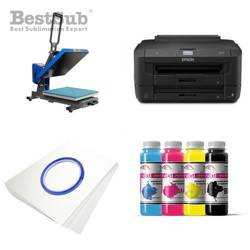 T-shirt printing kit Epson WF-7210DTW + PLUS-PB4060MD Sublimation Thermal Transfer