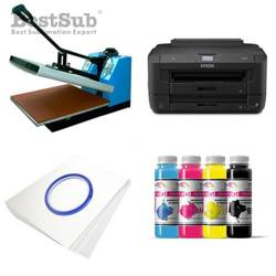 T-shirt printing kit Epson WF-7210DTW + SB3B Sublimation Thermal Transfer