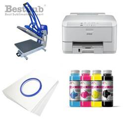 T-shirt printing kit Epson WF3010DW + CLAM-C44 Sublimation Thermal Transfer
