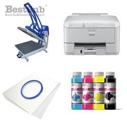 T-shirt printing kit Epson WF3010DW + CLAM-C45 Sublimation Thermal Transfer