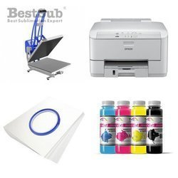 T-shirt printing kit Epson WF3010DW + CLAM-D44 Sublimation Thermal Transfer