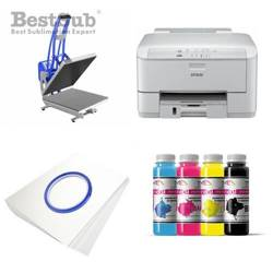T-shirt printing kit Epson WF3010DW + CLAM-D45 Sublimation Thermal Transfer