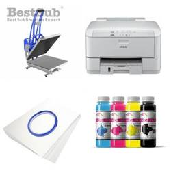 T-shirt printing kit Epson WF3010DW + CLAM-D56 Sublimation Thermal Transfer