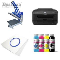 T-shirt printing kit Epson WF7110DTW + CLAM-C45 Sublimation Thermal Transfer