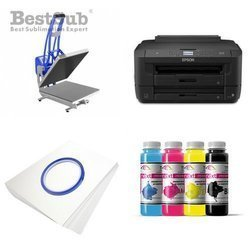 T-shirt printing kit Epson WF7110DTW + CLAM-D44 Sublimation Thermal Transfer