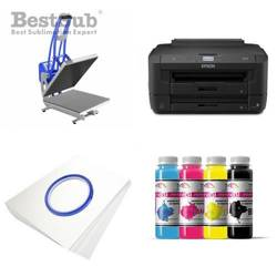 T-shirt printing kit Epson WF7110DTW + CLAM-D46 Sublimation Thermal Transfer