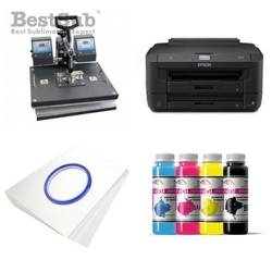 T-shirt printing kit Epson WF7110DTW + SD73 Sublimation Thermal Transfer